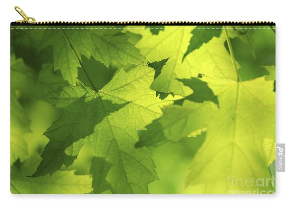 Green Maple Leaves Carry-all Pouch