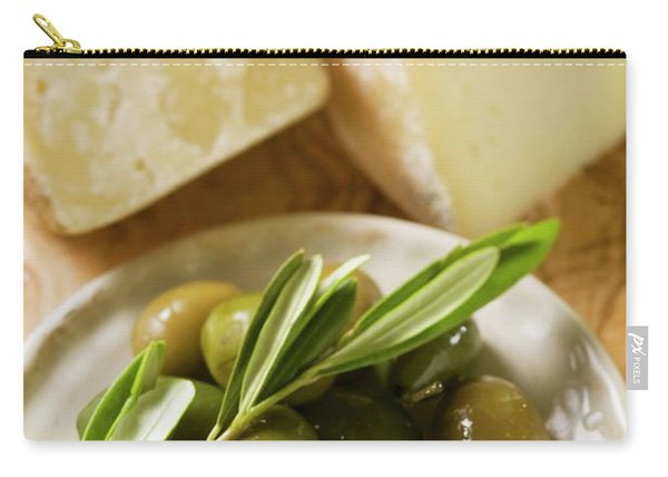 Green Olives And Cheese Carry-all Pouch
