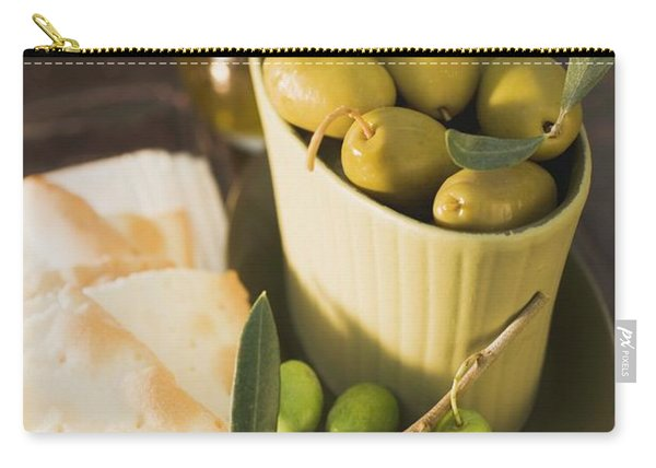 Green Olives And Crackers Carry-all Pouch