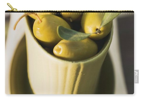 Green Olives In Bowl Carry-all Pouch