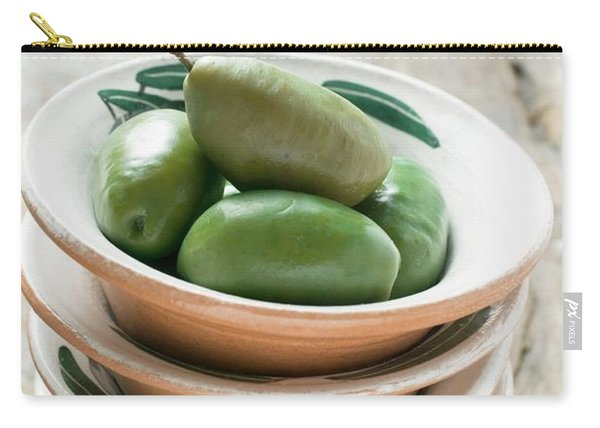 Green Olives In Mediterranean Bowl Carry-all Pouch