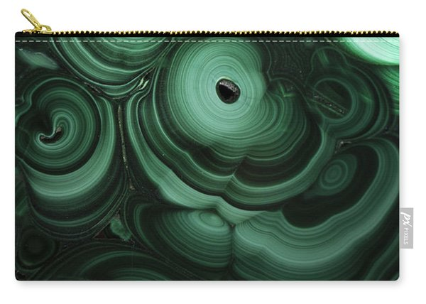 Carry-all Pouch featuring the photograph Green Patterns Of Malachite by Jaroslaw Blaminsky