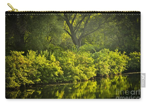 Green Reflections In Water Carry-all Pouch