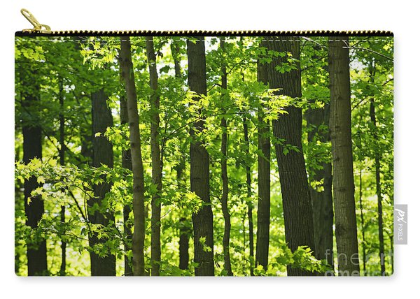 Green Spring Forest Carry-all Pouch