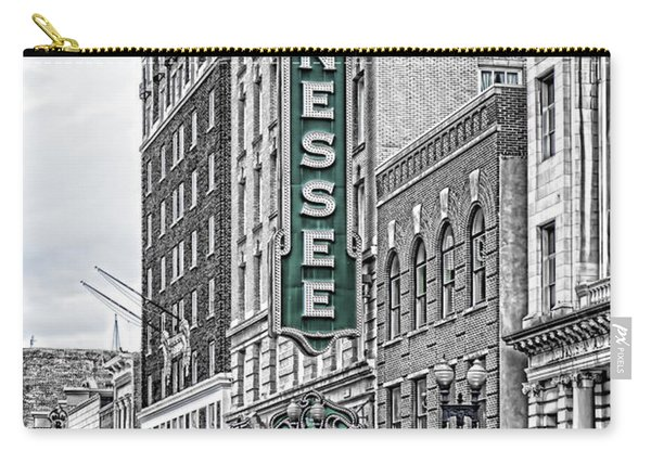 Green Tennessee Theatre Marquee Carry-all Pouch