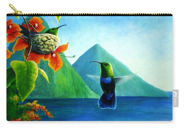 Green-throated Carib And Bougainvillea Carry-all Pouch