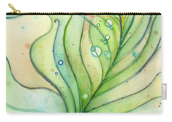 Green Watercolor Bubbles Carry-all Pouch