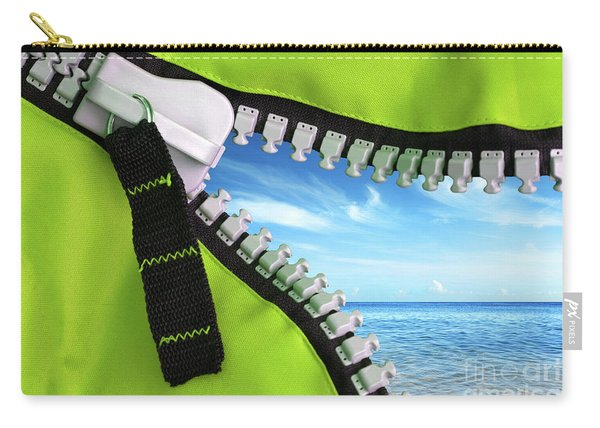 Green Zipper Carry-all Pouch