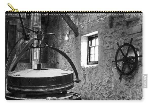 Grinder For Unmalted Barley In An Old Distillery Carry-all Pouch