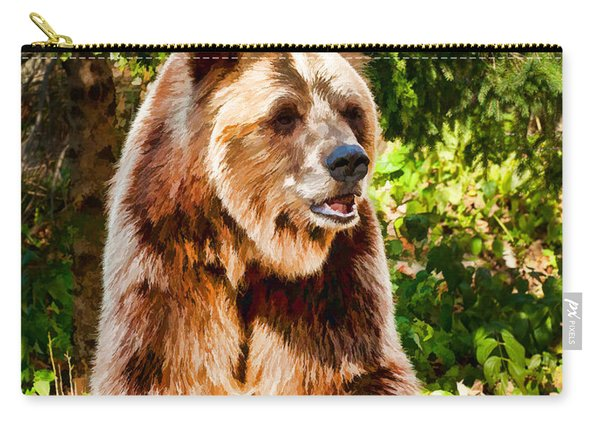 Grizzly Bear - Painterly Carry-all Pouch