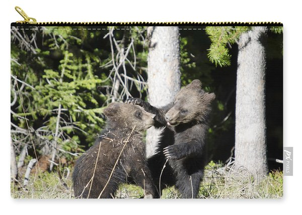 Grizzly Cubs Playing Carry-all Pouch