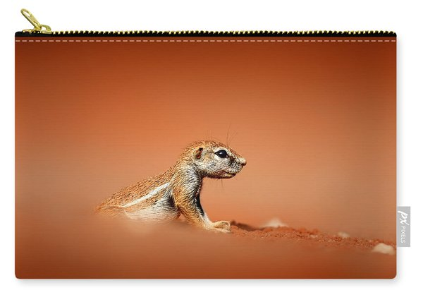Ground Squirrel On Red Desert Sand Carry-all Pouch