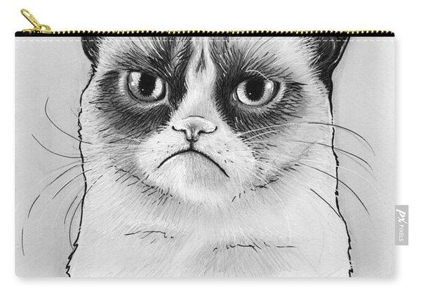 Grumpy Cat Portrait Carry-all Pouch