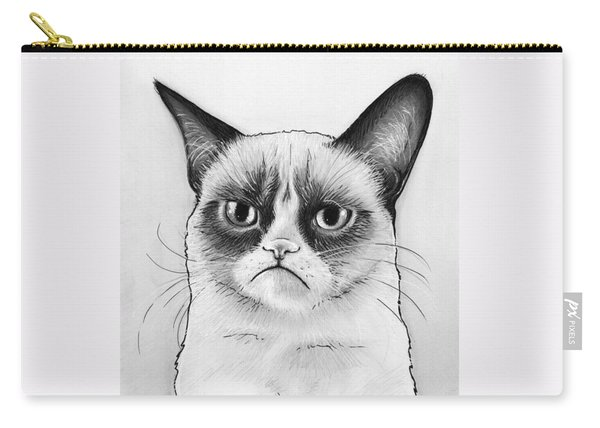 Grumpy Cat Portrait Carry-all Pouch