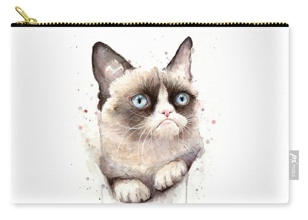 Grumpy Cat Watercolor Carry-all Pouch