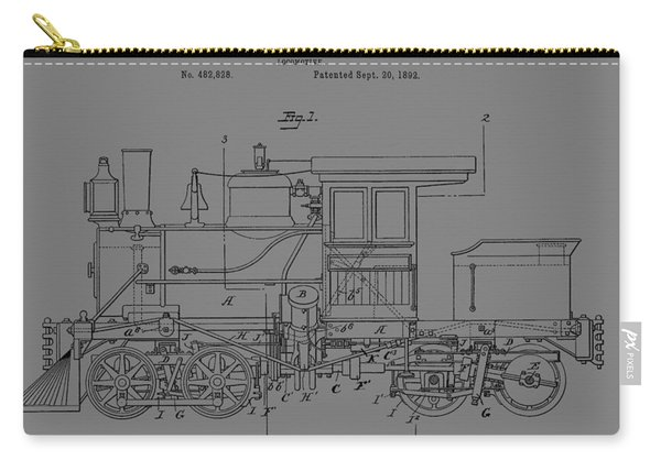 Grunge Locomotive Carry-all Pouch