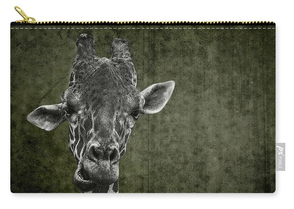 Grungy Giraffe 5654 Green Carry-all Pouch