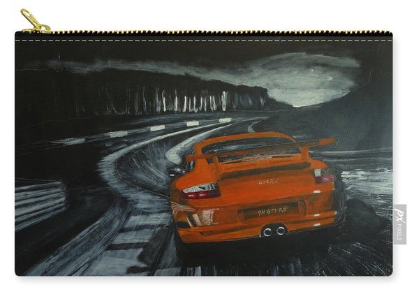 Carry-all Pouch featuring the painting Gt3 @ Le Mans #2 by Richard Le Page