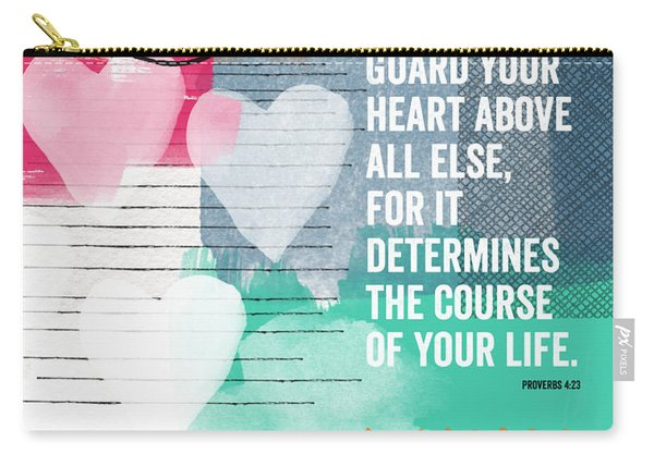 Guard Your Heart- Contemporary Scripture Art Carry-all Pouch