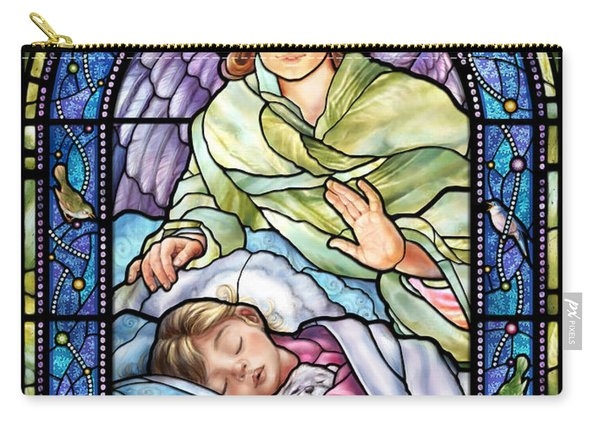 Guardian Angel With Sleeping Girl Carry-all Pouch
