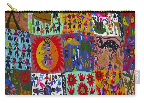 Guatemala Folk Art Quilt Carry-all Pouch