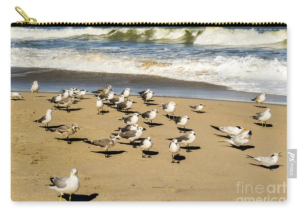 Gulls At The Beach Carry-all Pouch