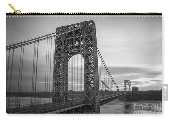 Gw Bridge Winter Sunrise Carry-all Pouch