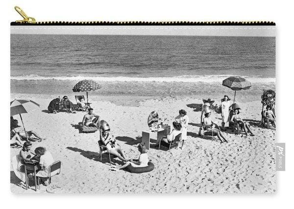 Hair Salon On The Beach Carry-all Pouch