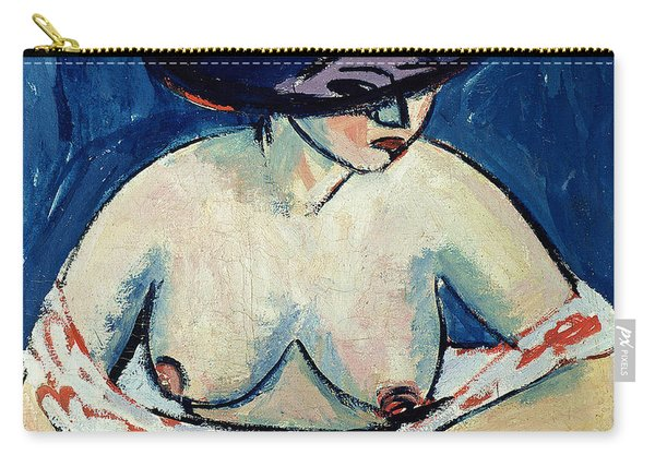 Half Naked Woman With A Hat Carry-all Pouch