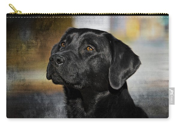 Handsome Black Lab Carry-all Pouch