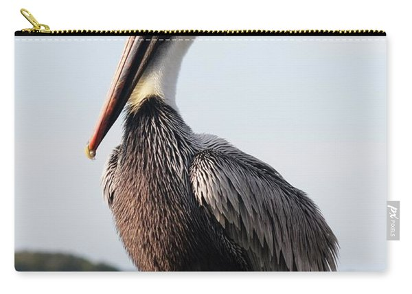 Handsome Brown Pelican Carry-all Pouch
