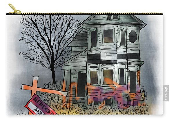 Carry-all Pouch featuring the digital art Handyman's Special by Mark Armstrong