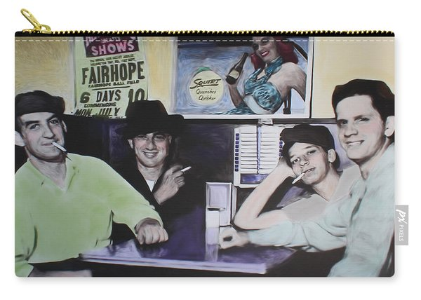Hanging At The Diner 1949 Carry-all Pouch