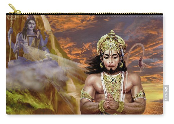 Hanuman Receives Lord Shiva's Blessings Carry-all Pouch