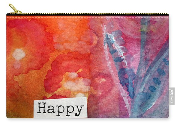 Happy Birthday- Watercolor Floral Card Carry-all Pouch