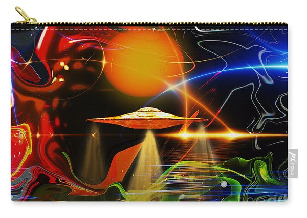 Carry-all Pouch featuring the digital art Happy Landing by Eleni Mac Synodinos