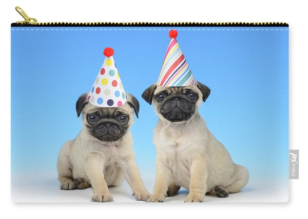 Happy Pug Birthday Carry-all Pouch