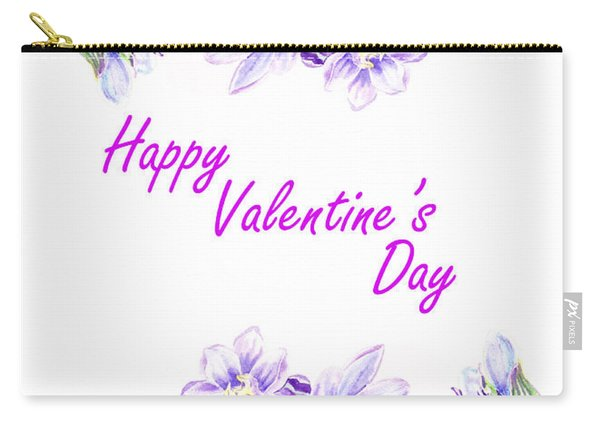 Happy Purple Valentine Carry-all Pouch