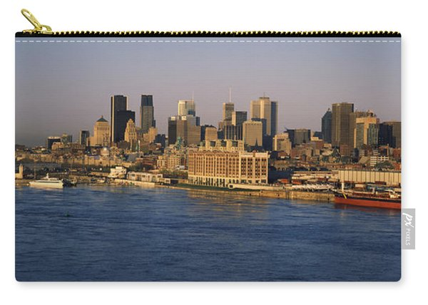 Harbor With The City Skyline, Montreal Carry-all Pouch