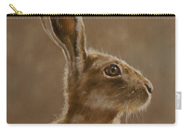 Hare Portrait I Carry-all Pouch