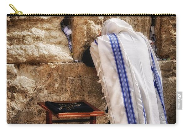 Harken Unto My Prayer O Lord Western Wall Jerusalem Carry-all Pouch