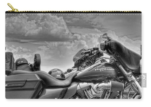 Harley Black And White Carry-all Pouch