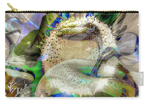 Carry-all Pouch featuring the digital art Harvest by Eleni Mac Synodinos