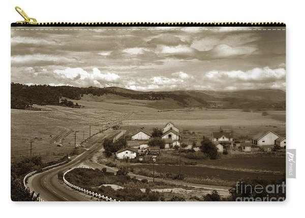 Hatton Ranch Carmel Valley From Highway One California  1945 Carry-all Pouch