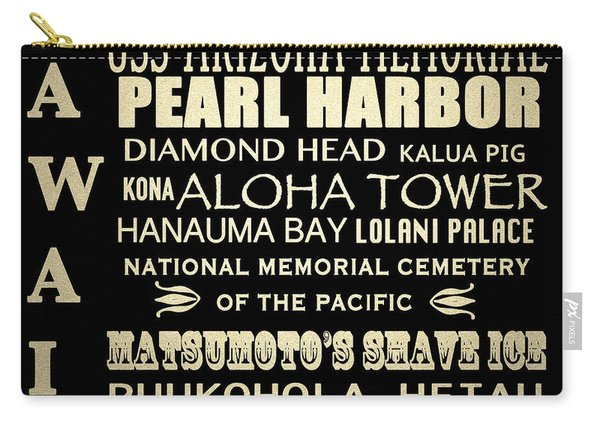 Hawaii Famous Landmarks Carry-all Pouch