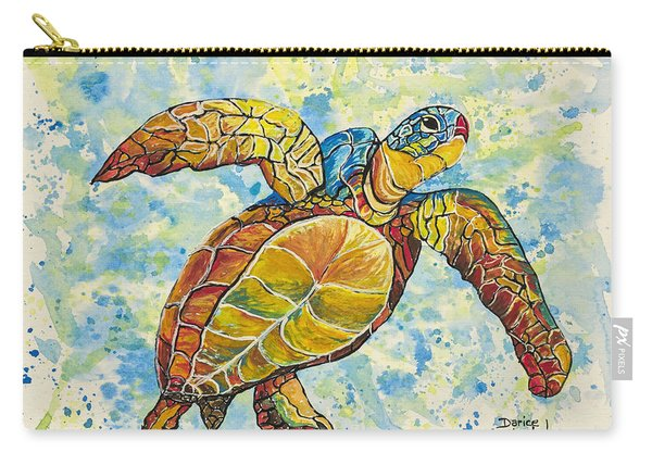 Hawaiian Sea Turtle 2 Carry-all Pouch