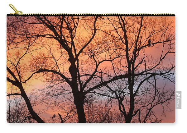 Hawk At Sunrise Carry-all Pouch