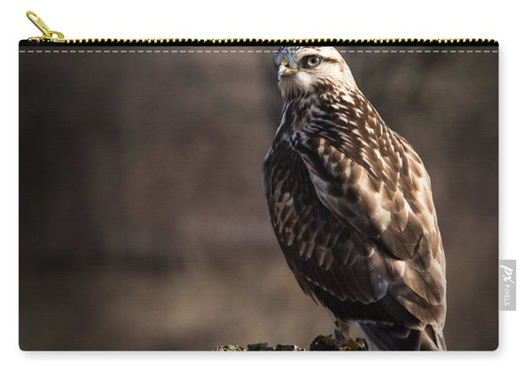 Hawk On A Post Carry-all Pouch