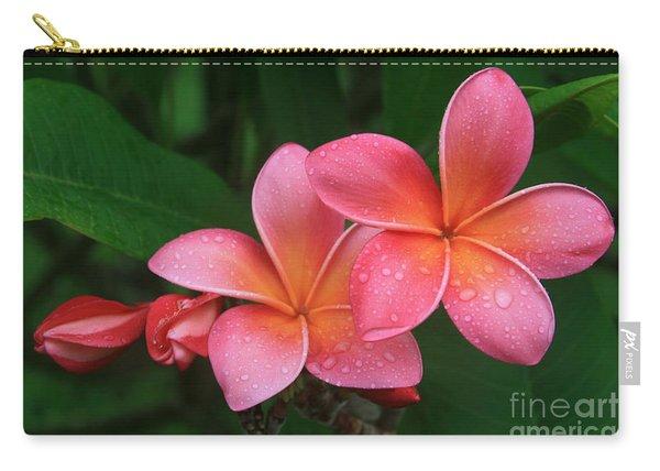 He Pua Laha Ole Hau Oli Hau Oli Oli Pua Melia Hae Maui Hawaii Tropical Plumeria Carry-all Pouch