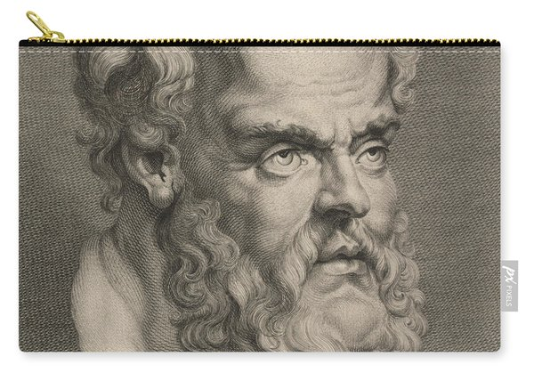 Head Of Socrates Carry-all Pouch